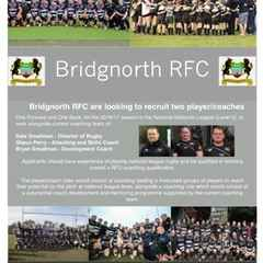 Bridgnorth RFC new Coaching Structure looking to push on.