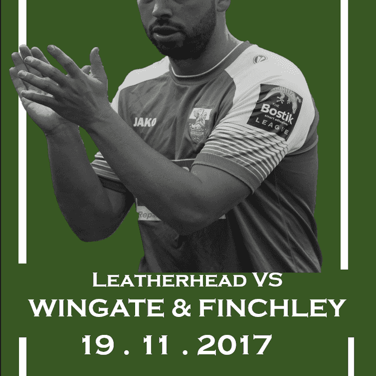 Be a Mascot for Leatherhead Vs Wingate & Finchley