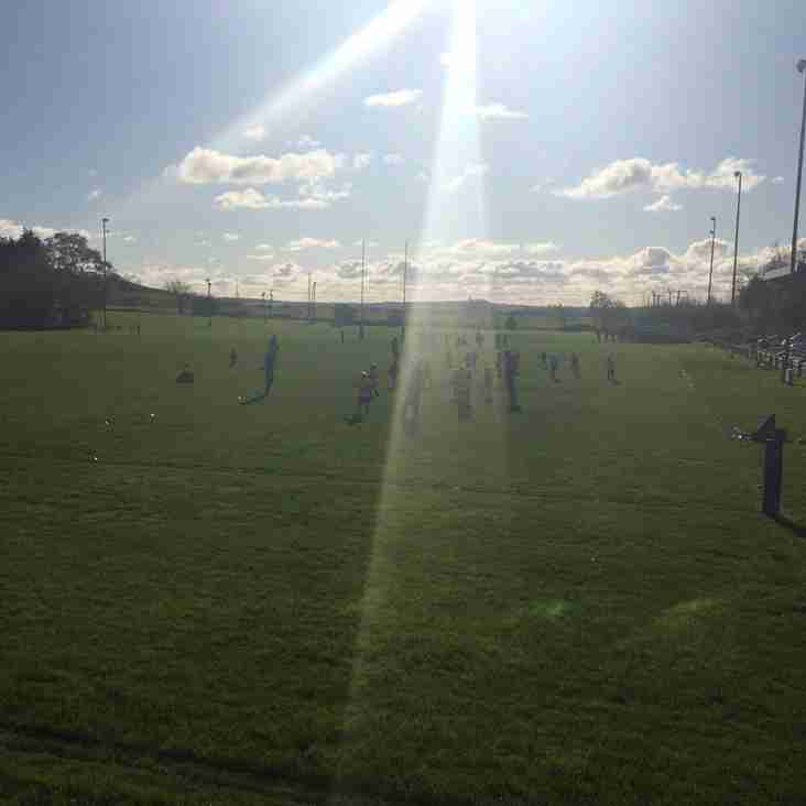 Sunny Sunday morning training for 7s, 8s, and 10s