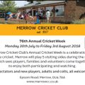 Merrow Cricket Club - Cricket Week 2018