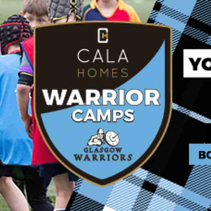 Perthshire to host Glasgow Warriors Easter Camp