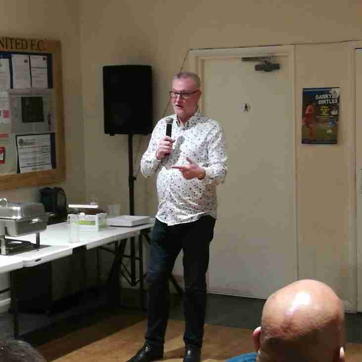 'I'm just a carpet fitter from a council estate in Chilwell' Garry Birtles reveals all at an intimate 'Evening with' at Grange Park.
