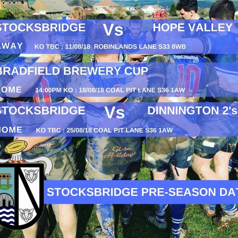 Stocksbridge Rugby Pre-Season Fixtures