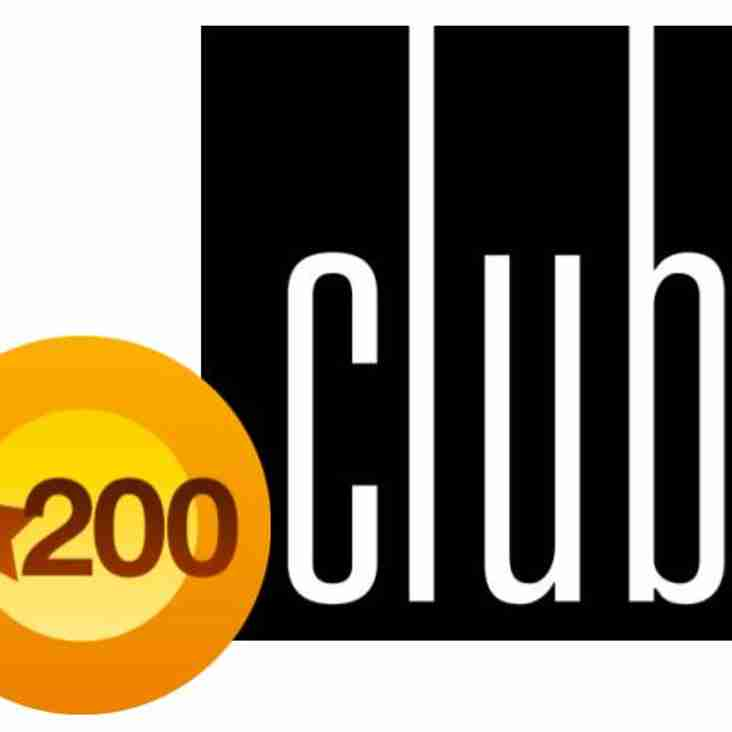 200 Club Winners - March