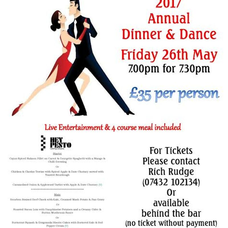 Dinner and Dance tickets selling fast!