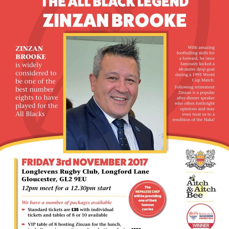 Longlevens RFC presents Zinzan Brooke