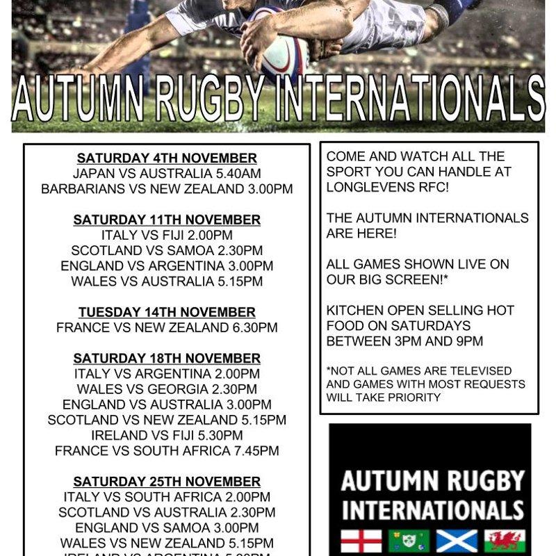 Autumn Internationals