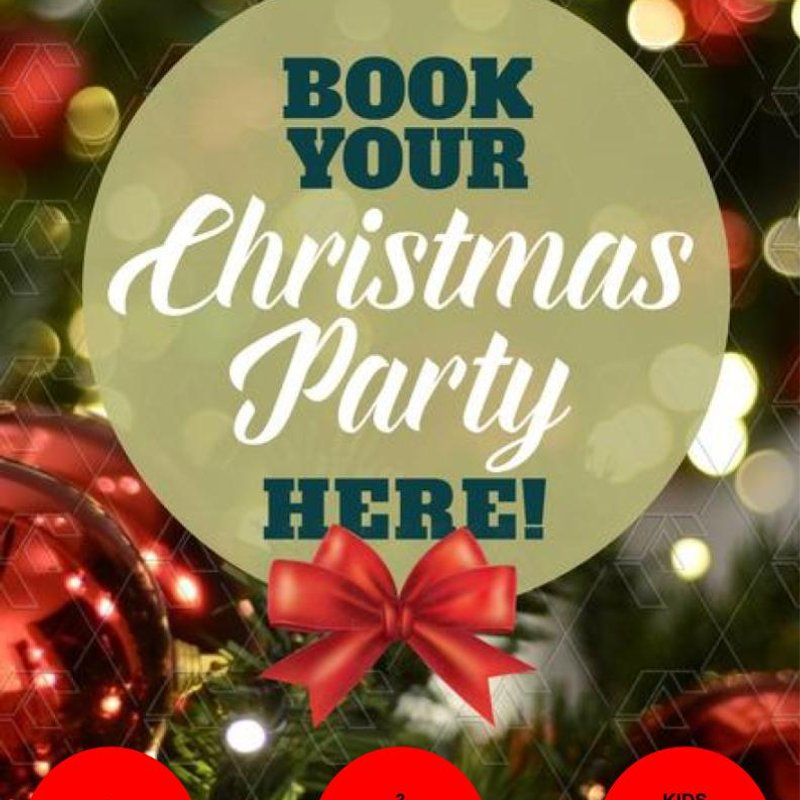 Taking bookings for Christmas parties now!