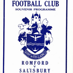 Romford v Salisbury - 19th April 1977 - Souvenir Programme