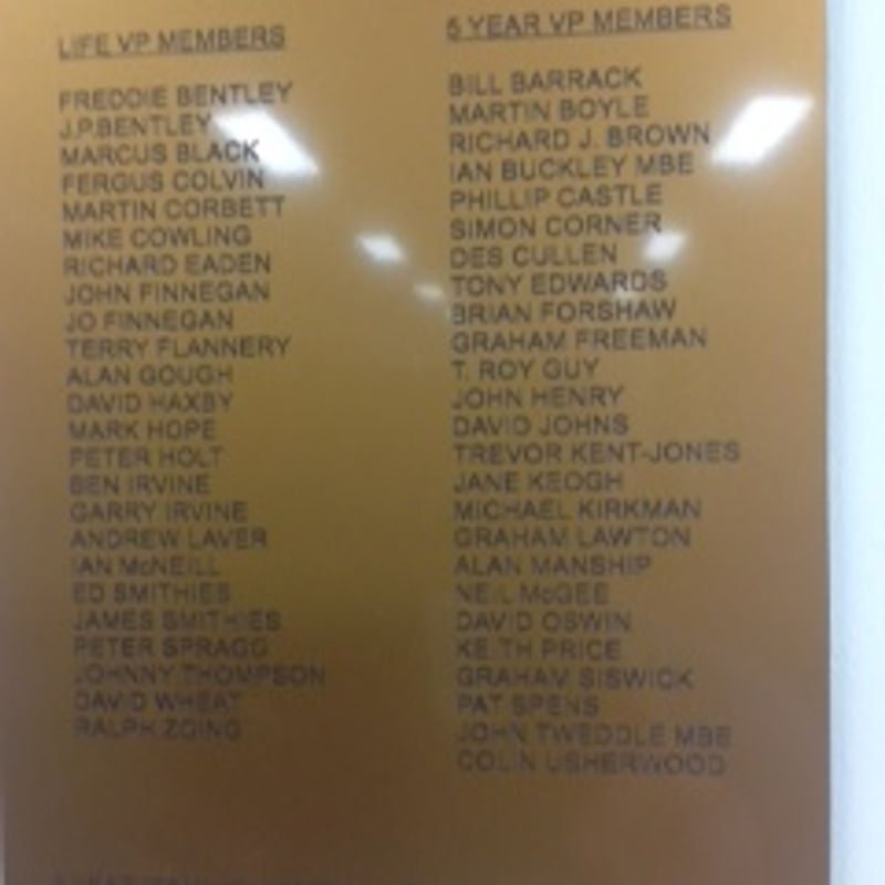 Life/5 yr Member Plaque is up!