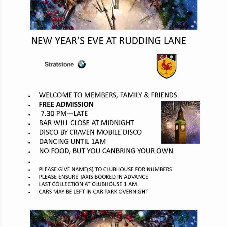 NEW YEAR'S EVE - FREE ENTRY + DISCO!!