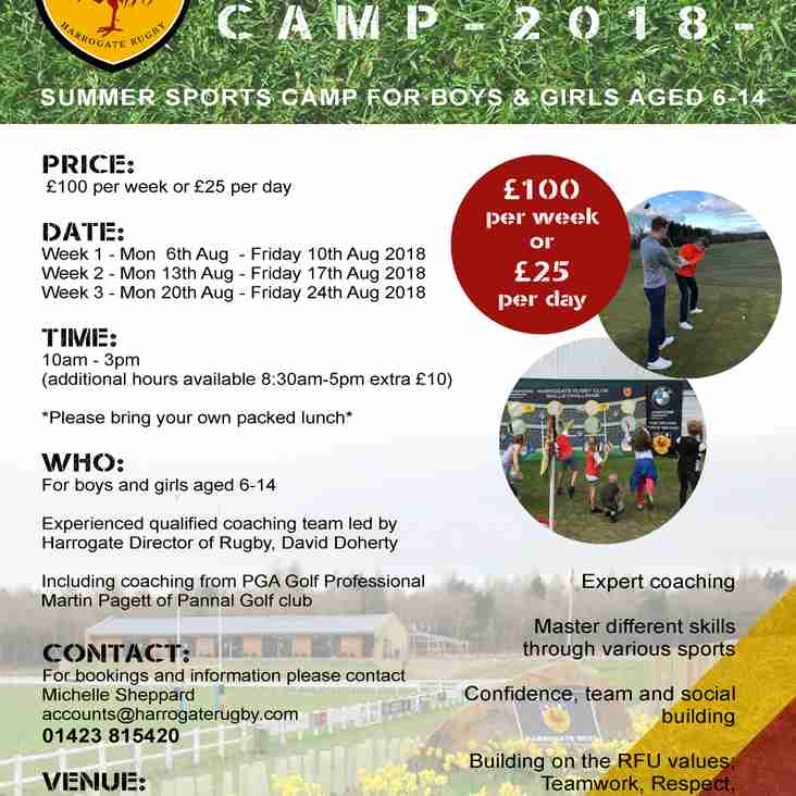 SUMMER SPORTS CAMP - SAVE £50 ON CHILDCARE THIS SUMMER