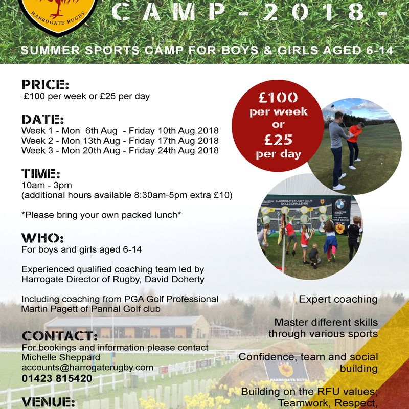 SUMMER SPORTS CAMP - BOOKINGS NOW BEING TAKEN