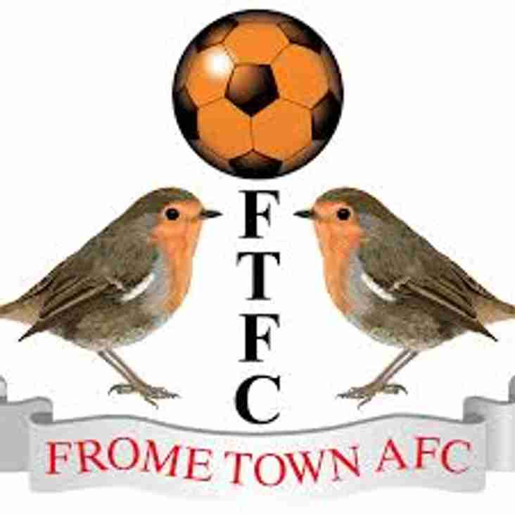 Match Preview: Frome Town v Rebels Saturday 25th Mar - kick off 15:00