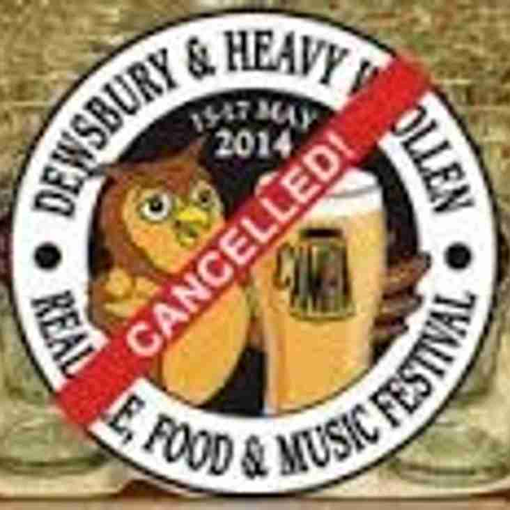 Beer Festival Cancelled