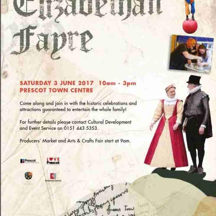 Prescot Elizabethan Fayre 3rd June