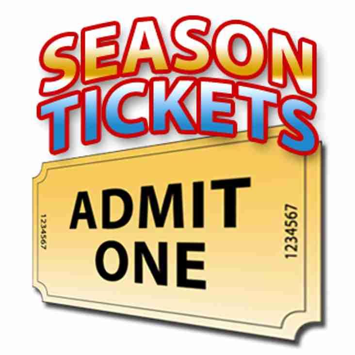 Season Tickets 2017/2018 Now On Sale