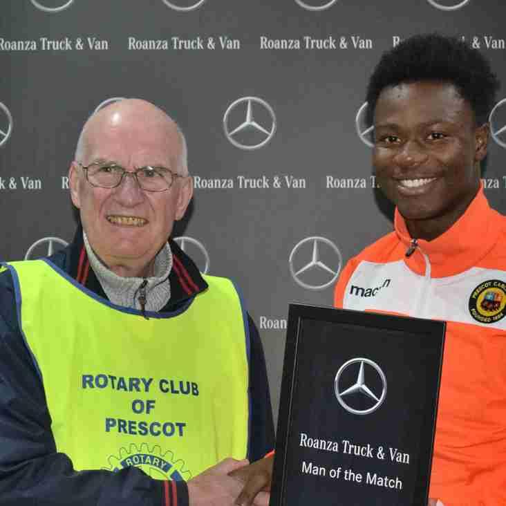 Baba Conteh - Roanza Mercedes Man of the Match