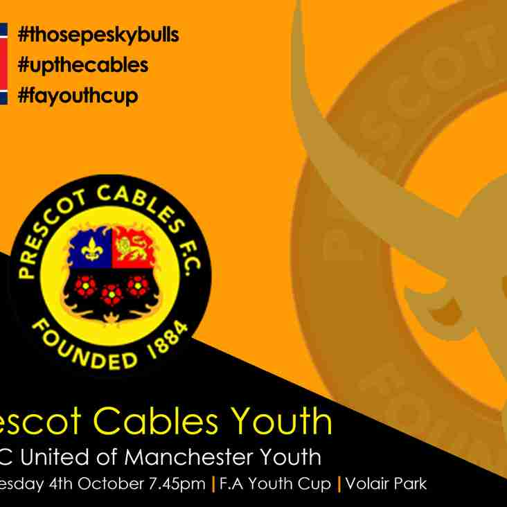 Prescot Cables vs FC United FA Youth Cup