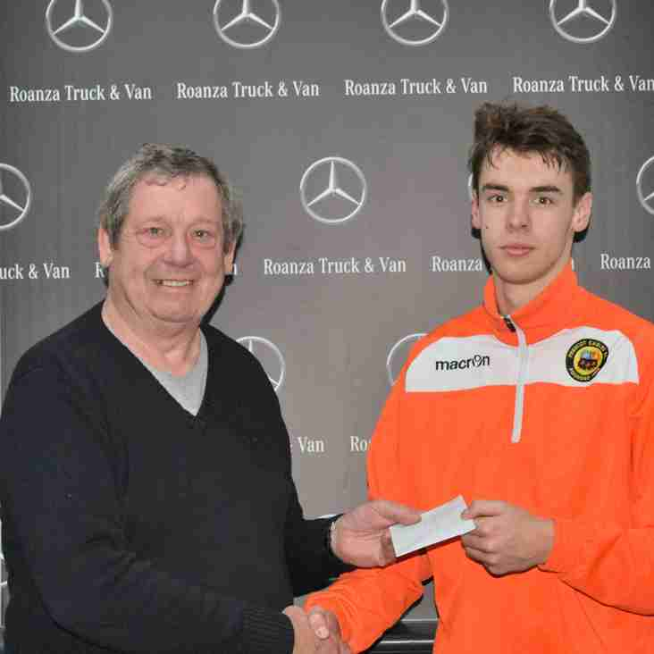 Jordan Wynne - Roanza Mercedes Man of the Match