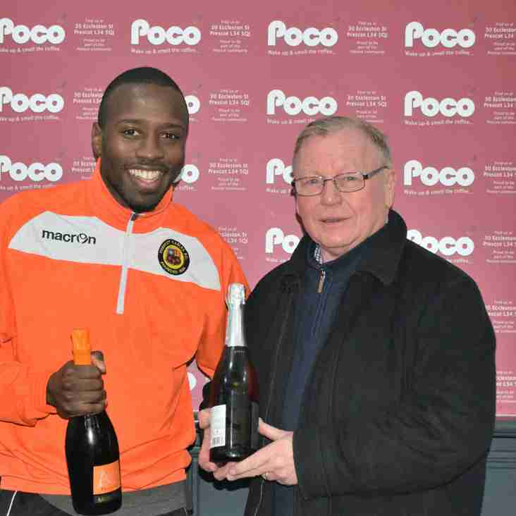 Valter Fernandes - Poco Coffee 'Player of the Month'December 2017