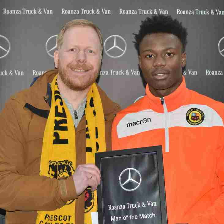 Roanza Mercedes Truck & Van 'Man of the Match' Baba Conteh