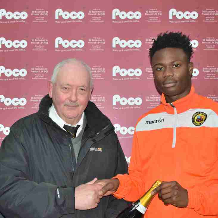 Poco Coffee 'Player of the Month' February 2018 - Baba Conteh