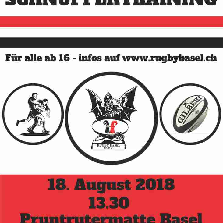 Schnuppertraining 18. August