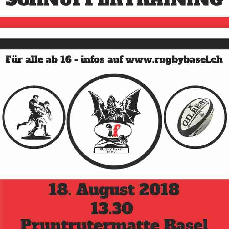 Schnuppertraining 18. August