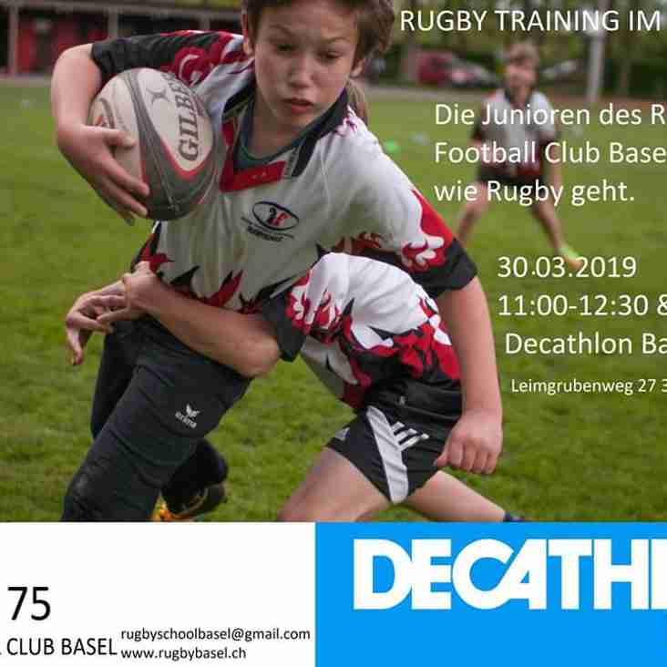 Rugby Training im Decathlon