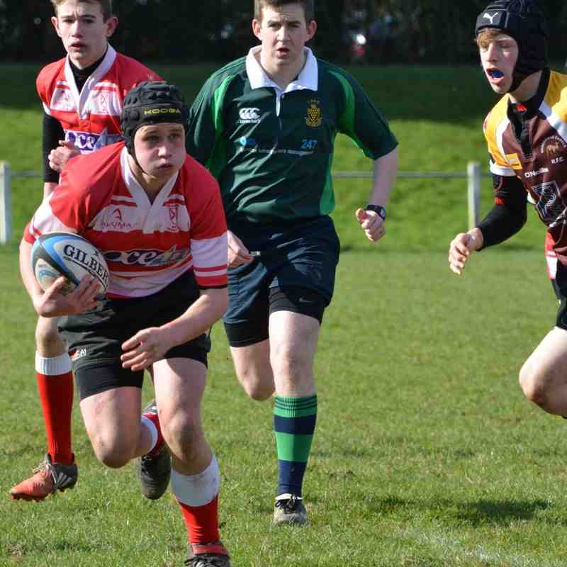 Under 14s Plate Quarter Final Wadebridge Home 28/02/16