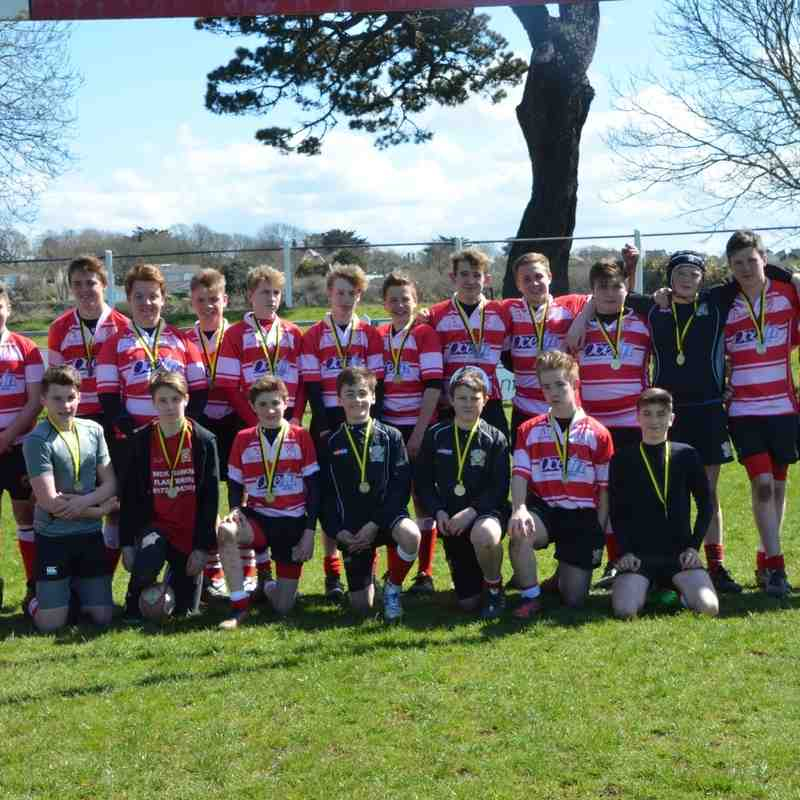 Under 14s Plate Final St Austell v Hayle 17 April 2016