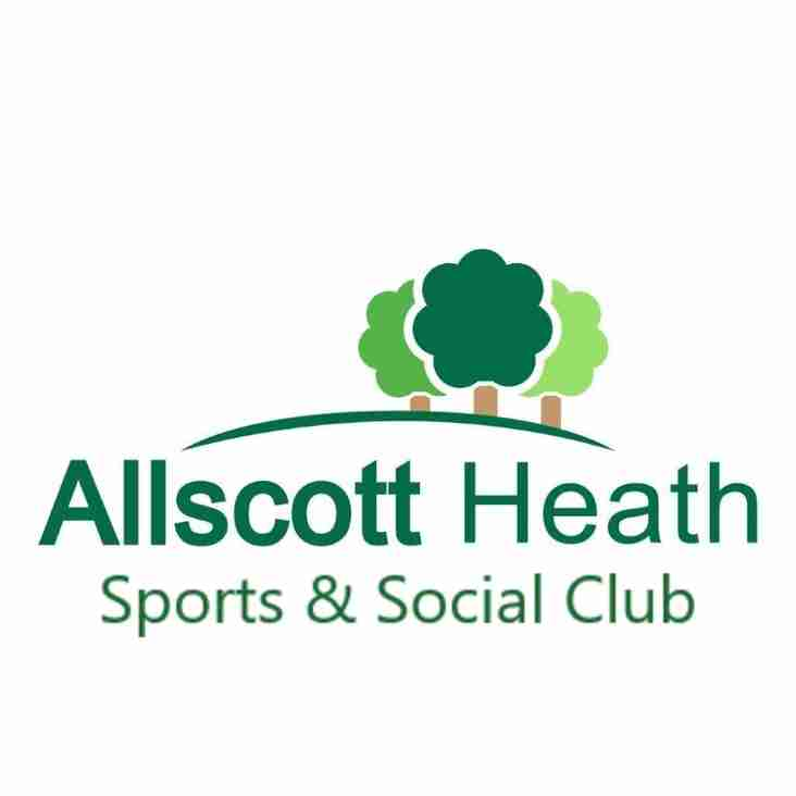 Forthcoming Events at Allscott Sports & Social Club