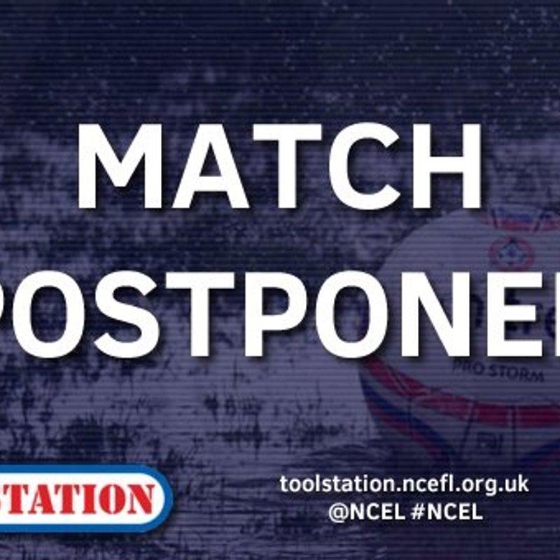 Clipstone V Cleethorpes match postponed.