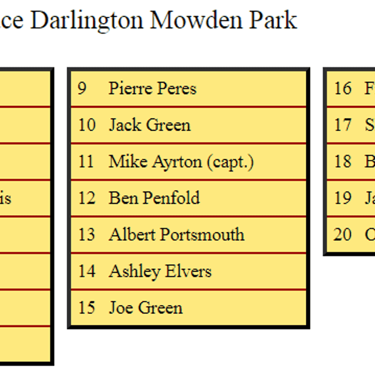 First XV Squad to Face DMP