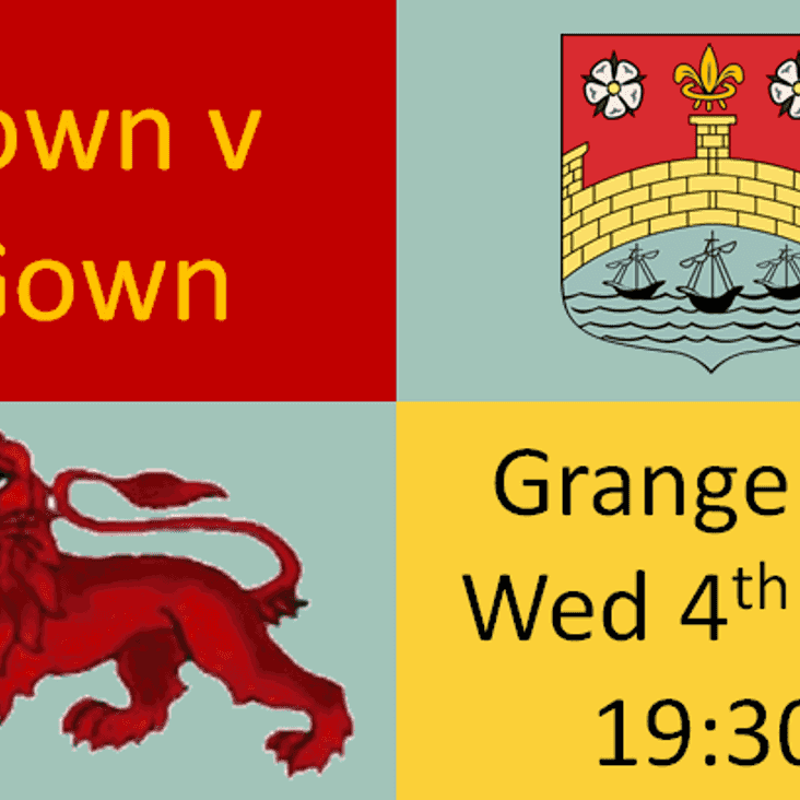 Town v Gown Wed 4th Oct 19.30