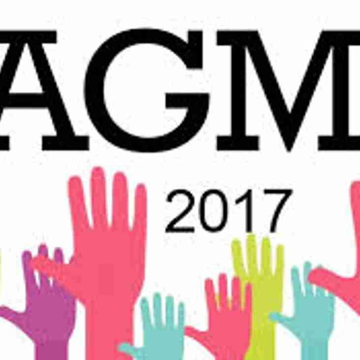 AGM - Thursday 16th Nov 19.00 for 19.30
