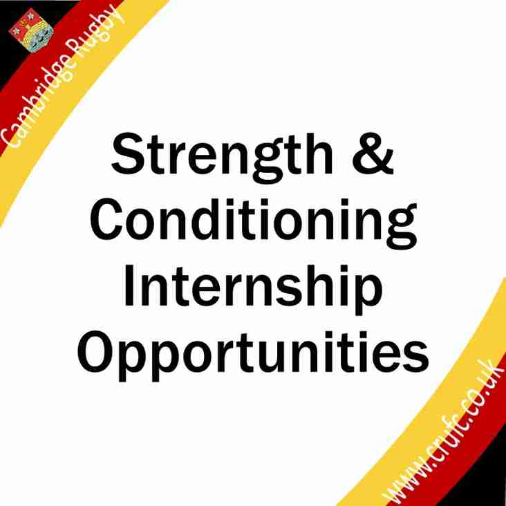 Strength and Conditioning Internship
