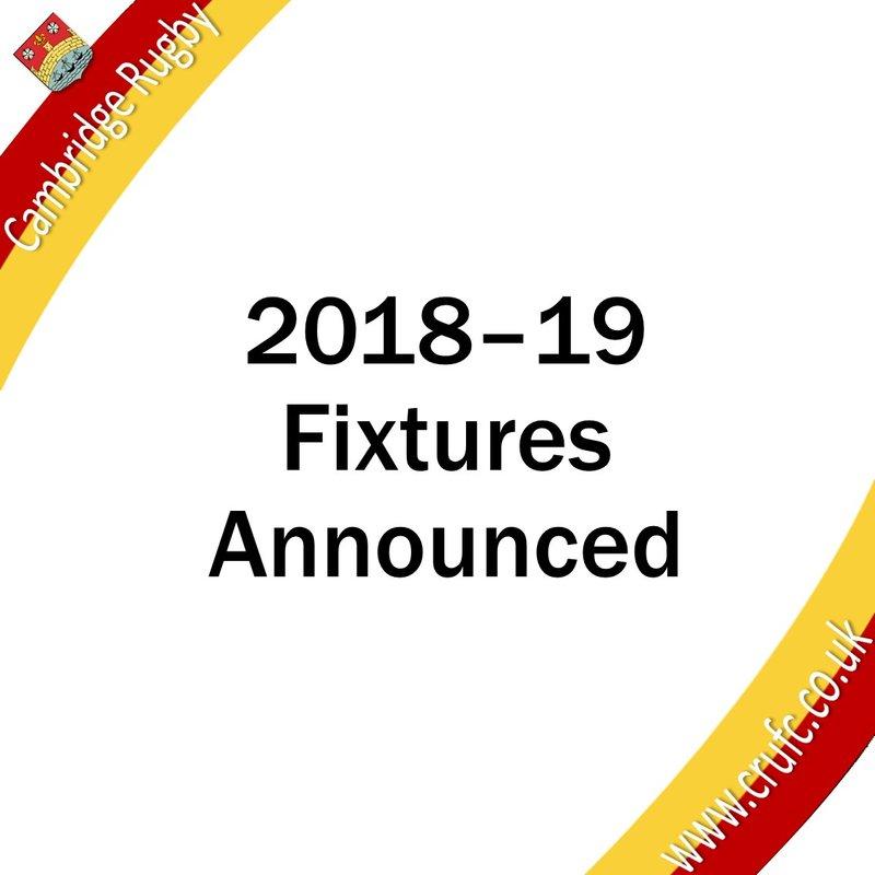 Fixtures Announced