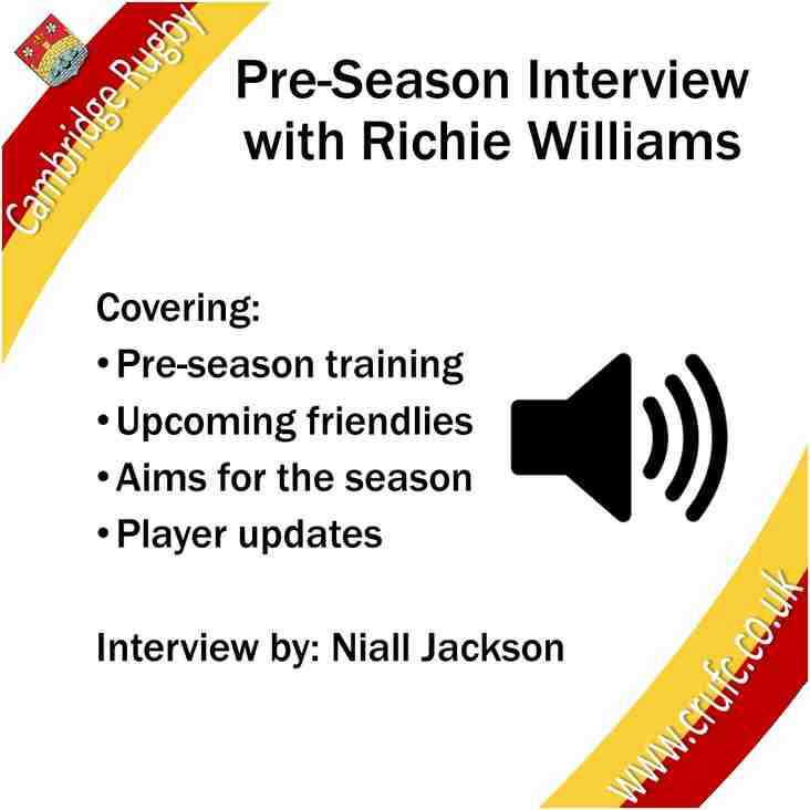 Pre-Season Interview With Richie Williams