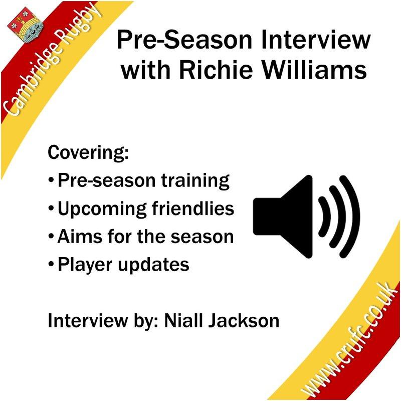 Pre-Season Interview With Richie Williams