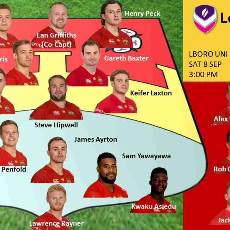 1st XV Squad to Face Loughborough Students