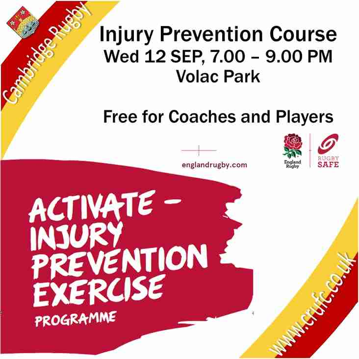 Injury Prevention Course