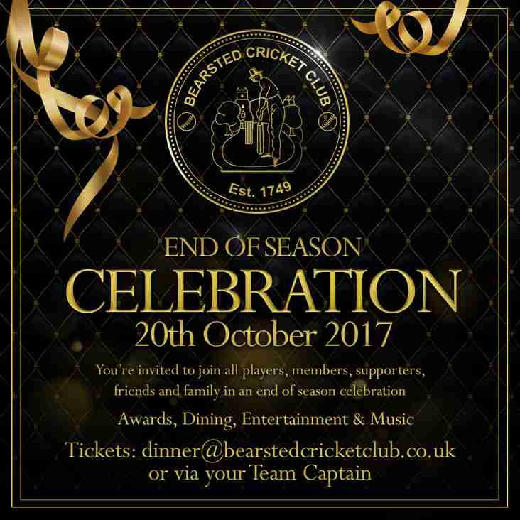 DON'T MISS OUT!!! Email dinner@bearstedcricketclub.co.uk today!