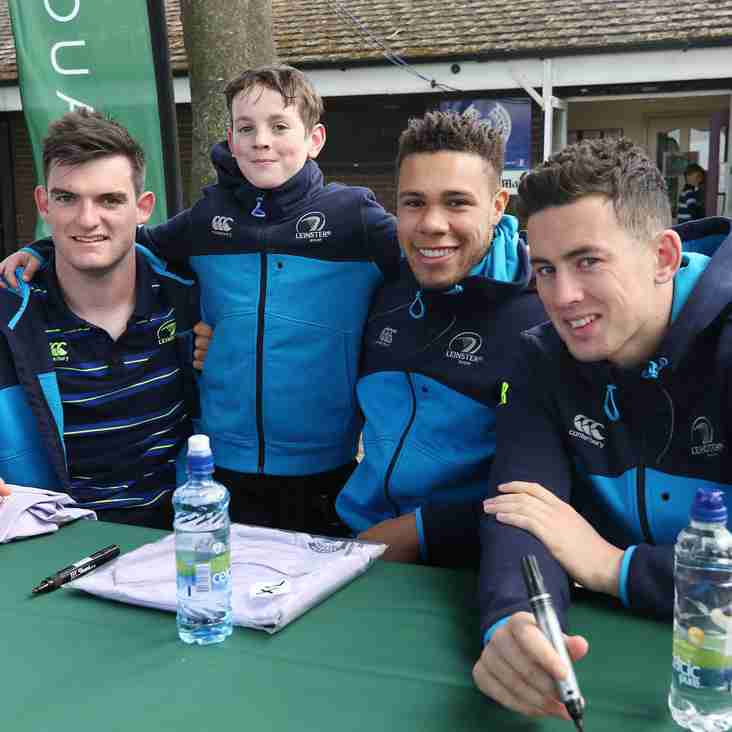 LEINSTER PLAYERS LEND THEIR SUPPORT TO SEAPOINT RC FOR THEIR ANNUAL RUGBY BLITZ