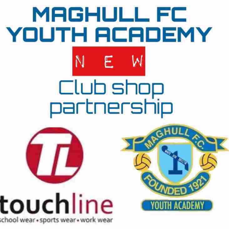 New Clubshop for Youth Teams now online