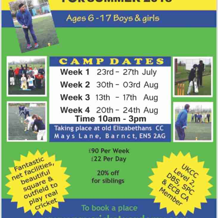 Summer Cricket Camps!