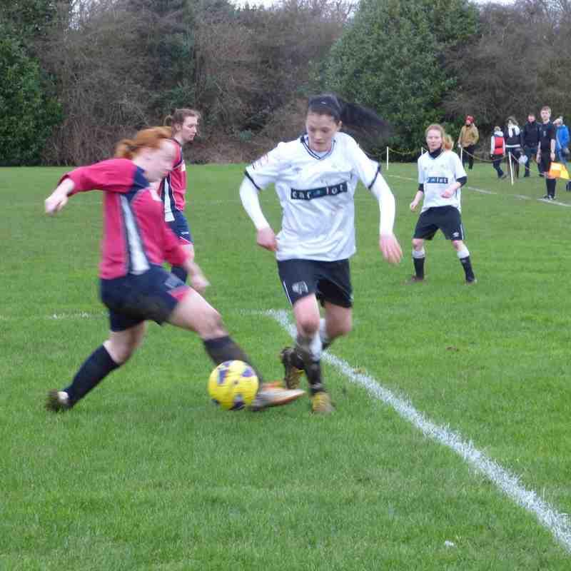 Ladies v Derby County, County Cup Semi Final Feb 16