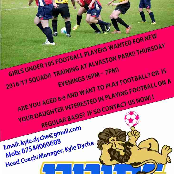 Girls u11 Players Wanted for New Team!