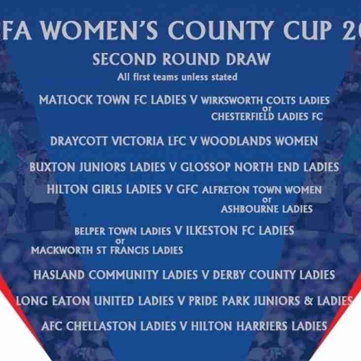 Ladies' tough away draw in County Cup